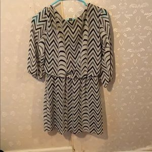 City Triangles Dresses - Black and white striped shirt